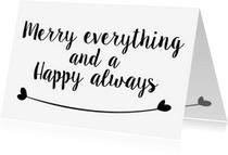 Kerstkaarten - Kerstkaarten Merry Everything