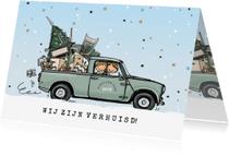 Kerstkaarten - Kerstverhuiskaart Mini pick-up