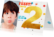 Kinderfeestjes - Kinderfeestje 2 jaar confetti
