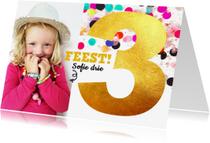 Kinderfeestjes - kinderfeestje 3 jaar confetti