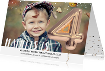 Kinderfeestjes - Kinderfeestje Ballon 4 jaar