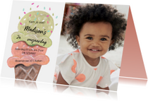 Kinderfeestjes - Kinderfeestje met een ijsje met bolletjes