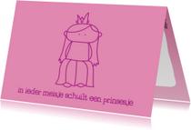 Kinderkaarten - Kinderkaart Prinsesje