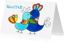 Ansichtkaarten - Knuffel kaart vogel