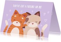 Vriendschap kaarten - Knuffelkatten Friendship