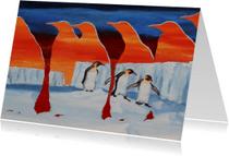 Kunstkaarten - Kunst, Pinuïngs op ijs - AZ