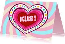 Liefde kaarten -  Kus! - TW