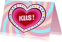 Liefde kaarten -  Kus! -TW