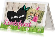 Communiekaarten - Lentefeest kaart met hout - DH