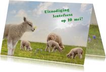 Communiekaarten - Lentefeest met lammetjes