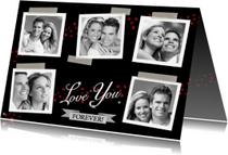 Liefde kaarten - Leuke liefde kaart met diverse eigen foto's