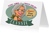 Verjaardagskaarten -  Leuke verjaardagskaart leuke vrouw in ovaal classic