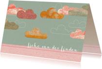 Geboortekaartjes - Lief geboortekaartje met wolkjes