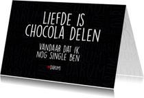 Liefde kaarten - Liefde is chocola delen
