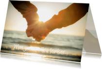 Liefde kaarten - Liefde kaart hand in hand MM