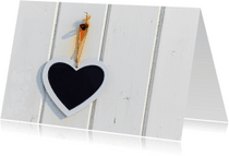 Liefde kaarten - Liefde kaart Hart Krijt - AJ