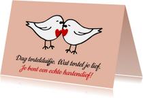 Liefde kaarten - Liefde kaart tortelduifjes