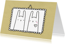 Liefde kaarten - Liefde konijntjes