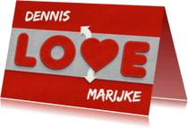Liefde kaarten - Liefde - love met naam