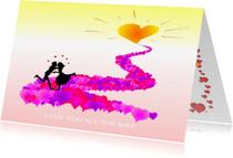 Liefde kaarten - Liefde Love you all the way