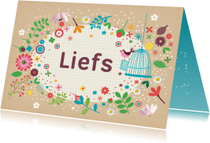 Zomaar kaarten - Liefs met craftpapier en bloemen