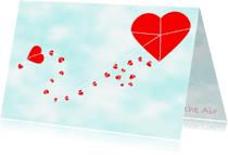 Trouwkaarten - Love flying high