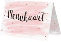Menukaarten - Menukaart aquarel confetti