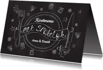 Menukaarten - Menukaart kerst chalkboard