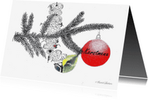 Menukaarten - Menukaart 'Kersttak met pimpel'