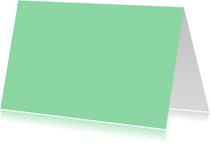 Blanco kaarten - Mint dubbel liggend