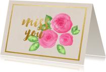 Liefde kaarten - Miss you kaartje - SU