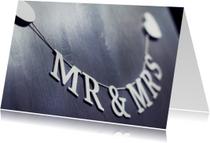 Trouwkaarten - Mister and Misses