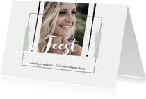 Uitnodigingen - Moderne, eenvoudige uitnodiging met speelse typografie