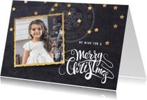 Kerstkaarten - Moderne kerstkaart foto krijtbord