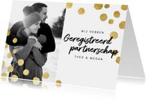 Moderne trouwkaart geregistreerd partnerschap