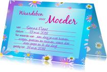 Moederdag kaarten - Moeder Waardebon
