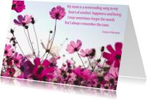 Moederdag kaarten - Moederdagkaart Bloemenveld