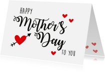 Moederdagkaart happy Mother's Day to you