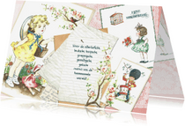 Moederdag kaarten - Moederdagkaart vintage collage van kinderkaarten