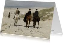 Kunstkaarten - Morgenrit langs het strand