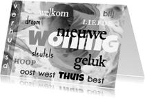 Felicitatiekaarten - Nieuwe woning, welkom