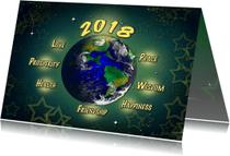 Nieuwjaarskaarten - Nieuwjaar Retro2018Universeel