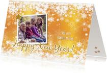 Nieuwjaarskaarten - Nieuwjaar stijlvolle fotokaart