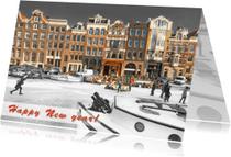 Nieuwjaarskaarten - Nieuwjaarskaart- Amsterdams_IJs
