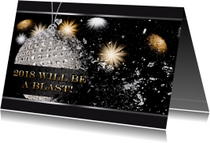 Nieuwjaarskaarten - Nieuwjaarskaart Blast 2018 RB