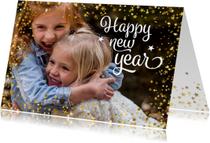 Nieuwjaarskaarten - Nieuwjaarskaart happy new year foto