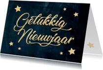 Nieuwjaarskaarten - Nieuwjaarskaart sterren