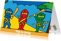 Verjaardagskaarten - Ninja is jarig