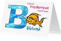 Geslaagd kaarten - nr27-zwemdiploma-B