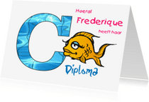 Geslaagd kaarten - nr27-zwemdiploma-C